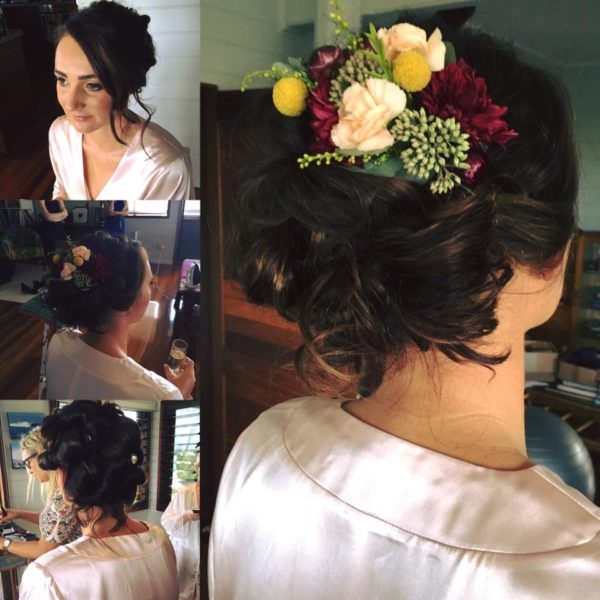 wedding upstyling for brides with flowers