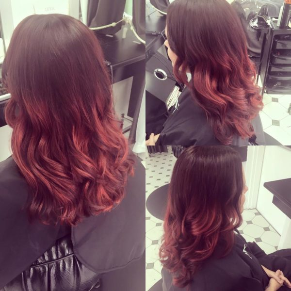 Hair colouring ombre for women