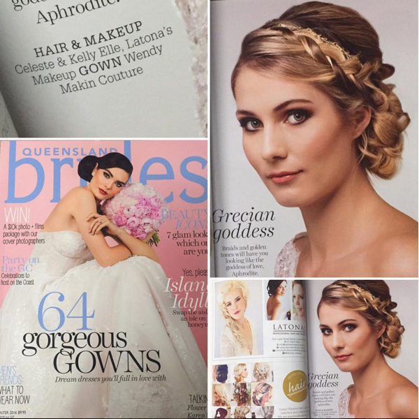Wedding hair styling and makeup for brides