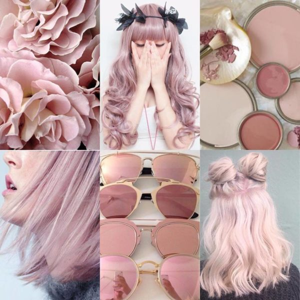 Pink shades hair colours for women