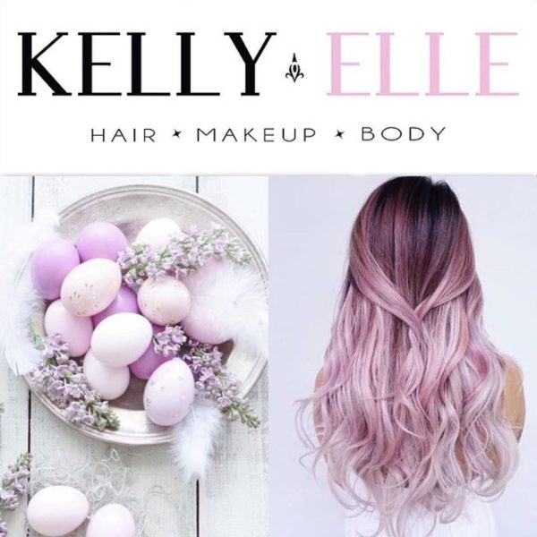 Hair colour pink ombre for women