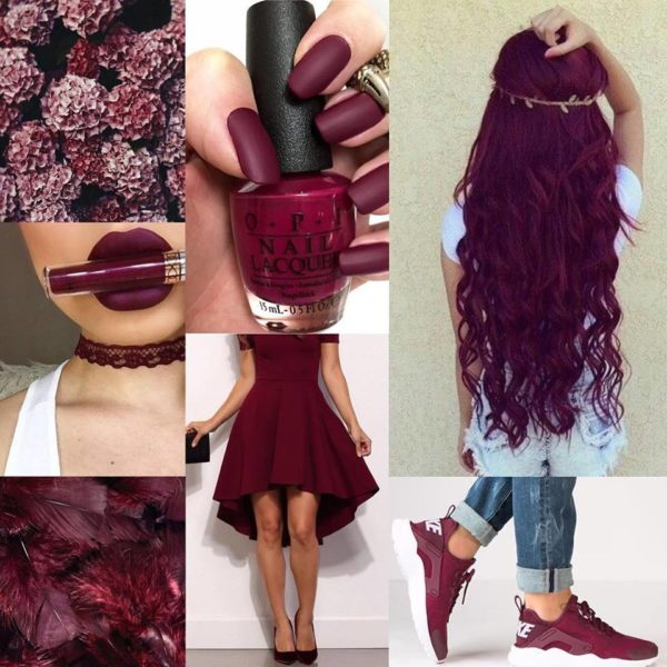 Maroon hair colour for women
