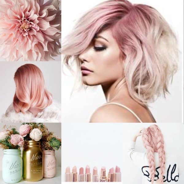 Pink and blonde hair colour for women