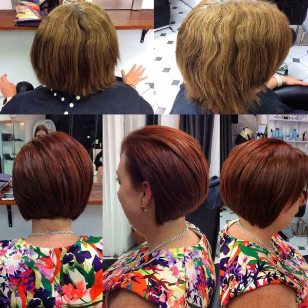 Short hair colour for women