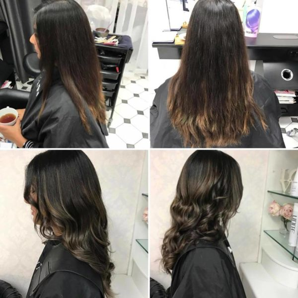 Hair highlights and curls for women
