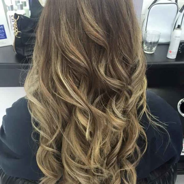 Women hair balayage