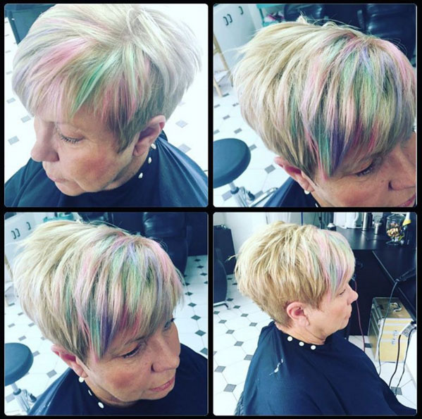 Rainbow highlights for women