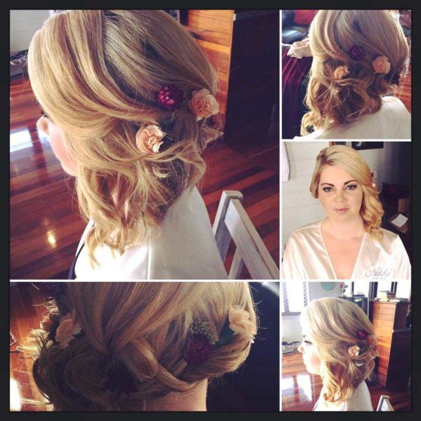Wedding hair styling for brides